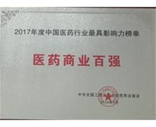2017年度中國醫藥行業最具影響力榜單 醫藥商業百強